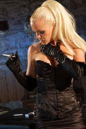 Smoking blonde milfs