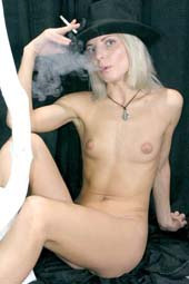 Sexy smoking beautiful chicks